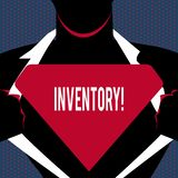 Conceptual hand writing showing Inventory. Business photo text Complete list of items like products goods in stock. Properties vector illustration