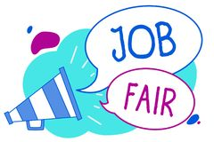 Free Conceptual Hand Writing Showing Job Fair. Business Photo Text An Event Where A Person Can Apply For A Job In Multiple Companies Me Stock Image - 121532061
