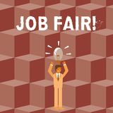 Conceptual hand writing showing Job Fair. Business photo showcasing event in which employers recruiters give information. Conceptual hand writing showing Job vector illustration