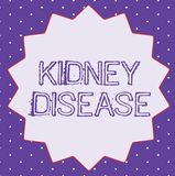 Conceptual hand writing showing Kidney Disease. Business photo text Kidneys can no longer perform its functions to full vector illustration