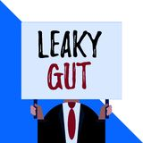 Conceptual hand writing showing Leaky Gut. Business photo showcasing A condition in which the lining of small intestine