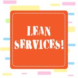 Conceptual hand writing showing Lean Services. Business photo showcasing application of the lean analysisufacturing vector illustration