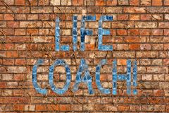 Conceptual hand writing showing Life Coach. Business photo text demonstrating employed to help showing attain their. Conceptual hand writing showing Life Coach royalty free stock photography