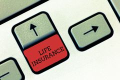 Conceptual hand writing showing Life Insurance. Business photo text Payment of death benefit or injury Burial or medical claim stock photos