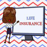Conceptual hand writing showing Life Insurance. Business photo text Payment of death benefit or injury Burial or medical. Conceptual hand writing showing Life royalty free illustration
