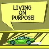 Conceptual hand writing showing Living On Purpose. Business photo showcasing Achieve balance between their heart and royalty free illustration