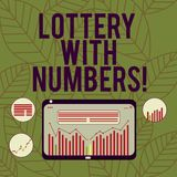 Conceptual hand writing showing Lottery With Numbers. Business photo text game of chance in which showing buy numbered. Tickets Digital Combination of Column stock illustration