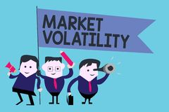 Conceptual hand writing showing Market Volatility. Business photo text Underlying securities prices fluctuates Stability