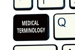Conceptual hand writing showing Medical Terminology. Business photo text language used to precisely describe the