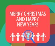 Conceptual hand writing showing Merry Christmas And Happy New Year. Business photo showcasing Holiday season greetings stock illustration