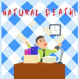 Conceptual hand writing showing Natural Death. Business photo showcasing occurring in the course of nature and from. Conceptual hand writing showing Natural stock illustration