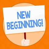 Conceptual hand writing showing New Beginning. Business photo showcasing Fresh Start Changing Form Growth Life New Way. To Work royalty free illustration