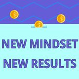 Conceptual hand writing showing New Mindset New Results. Business photo text obstacles are opportunities to reach. Conceptual hand writing showing New Mindset vector illustration
