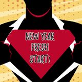Conceptual hand writing showing New Year Fresh Start. Business photo text Time to follow resolutions reach out dream job. Conceptual hand writing showing New royalty free illustration