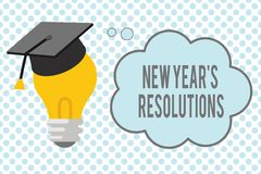Conceptual hand writing showing New Year s is Resolutions. Business photo showcasing Wishlist List of things to. Accomplish or improve vector illustration