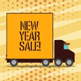Conceptual hand writing showing New Year Sale. Business photo showcasing Final holiday season discounts price reductions. Offers vector illustration