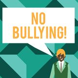 Conceptual hand writing showing No Bullying. Business photo text stop aggressive behavior among children power imbalance. Conceptual hand writing showing No royalty free illustration