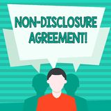 Conceptual hand writing showing Non Disclosure Agreement. Business photo showcasing parties agree not disclose. Conceptual hand writing showing Non Disclosure stock illustration