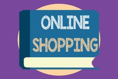 Conceptual hand writing showing Online Shopping. Business photo showcasing allows consumers to buy their goods over the Internet.  Royalty Free Illustration
