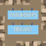 Conceptual hand writing showing Parkinson S Is Disease. Business photo text nervous system disorder that affects. Conceptual hand writing showing Parkinson S Is royalty free illustration