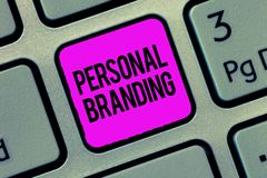 Conceptual hand writing showing Personal Branding. Business photo showcasing Marketing themselves and their careers as brands royalty free stock images