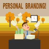Conceptual hand writing showing Personal Branding. Business photo showcasing process of creating a recognizable. Conceptual hand writing showing Personal vector illustration