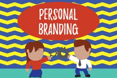 Conceptual hand writing showing Personal Branding. Business photo text Practice of People Marketing themselves Image as. Conceptual hand writing showing Personal stock illustration