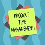 Conceptual hand writing showing Product Time Management. Business photo text Organizing, planning and analysisaging time. Effectively Multiple Layer of Sheets stock illustration