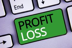 Conceptual hand writing showing Profit Loss. Business photos text Financial year end account contains total revenues and expenses. Conceptual hand writing stock photo