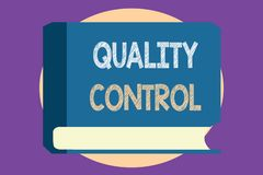 Conceptual hand writing showing Quality Control. Business photo showcasing insure that product or service sold due to standards.  vector illustration