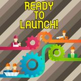 Conceptual hand writing showing Ready To Launch. Business photo text set something in motion to start it or forcefully. Conceptual hand writing showing Ready To royalty free illustration