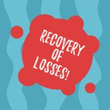 Conceptual hand writing showing Recovery Of Losses. Business photo text to get better after being ill regain or make up for Blank vector illustration