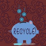 Conceptual hand writing showing Recycle. Business photo showcasing Converting waste into reusable material. Conceptual hand writing showing Recycle. Business vector illustration