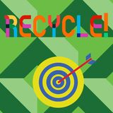Conceptual hand writing showing Recycle. Business photo text Converting waste into reusable material. Conceptual hand writing showing Recycle. Business photo stock illustration