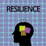 Conceptual hand writing showing Resilience. Business photo text Capacity to recover quickly from difficulties. Persistence royalty free illustration