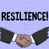 Conceptual hand writing showing Resilience. Business photo text Capacity to recover quickly from difficulties. Persistence stock illustration