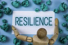 Conceptual hand writing showing Resilience. Business photo text Capacity to recover quickly from difficulties Persistence written. Sticky note paper Blue Royalty Free Stock Images