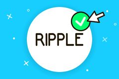 Conceptual hand writing showing Ripple. Business photo text small wave or series of them surface of water caused slight. Breeze vector illustration