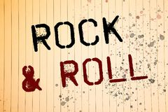 Conceptual hand writing showing Rock and Roll. Business photos showcasing Musical Genre Type of popular dance music Heavy Beat Sou. Conceptual hand writing stock photos