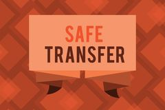 Conceptual hand writing showing Safe Transfer. Business photo text Wire Transfers electronically Not paper based Transaction.  Vector Illustration