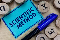 Conceptual hand writing showing Scientific Method. Business photo text Principles Procedures for the logical hunt of