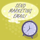 Conceptual hand writing showing Send Marketing Email. Business photo showcasing targeting of consumers through. Electronic mail Color Thought Speech Bubble with stock illustration