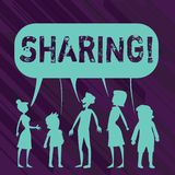 Conceptual hand writing showing Sharing. Business photo showcasing To Share Give a portion of something to another. Conceptual hand writing showing Sharing vector illustration