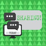 Conceptual hand writing showing Sharing. Business photo showcasing To Share Give a portion of something to another Possess in vector illustration