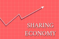 Conceptual hand writing showing Sharing Economy. Business photo showcasing economic model based on providing access to. Conceptual hand writing showing Sharing royalty free illustration