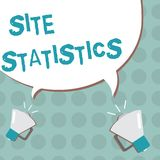 Conceptual hand writing showing Site Statistics. Business photo text measurement of behavior of visitors to certain website.  stock illustration