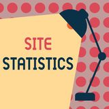 Conceptual hand writing showing Site Statistics. Business photo text measurement of behavior of visitors to certain website.  royalty free illustration