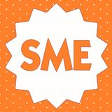 Conceptual hand writing showing Sme. Business photo showcasing Company with no more than 500 employees Small medium. Enterprise royalty free illustration