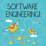Conceptual hand writing showing Software Engineering. Business photo text apply engineering to the development of stock illustration