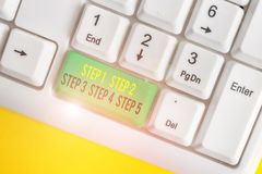 Free Conceptual Hand Writing Showing Step 1, 2, 3, 4 And 5. Business Photo Text Steps Levels Of A Process Work Flow White Pc Royalty Free Stock Photos - 159879698